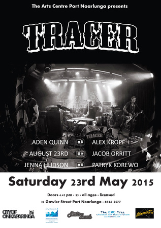Tracer Southern Sounds Poster For City Of Onkaparinga, April '15