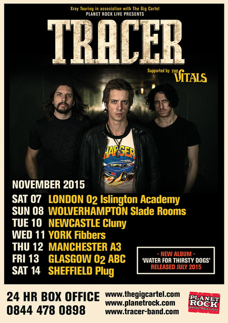 Tracer 2015 UK Tour Poster